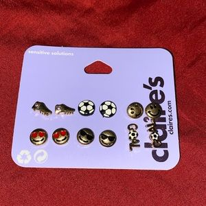NWT Claire's Soccer Stud Earrings
